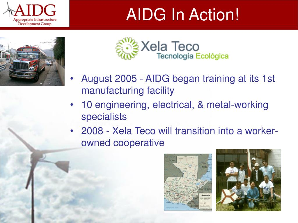 AIDG In Action!