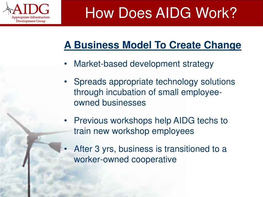 How Does AIDG Work?