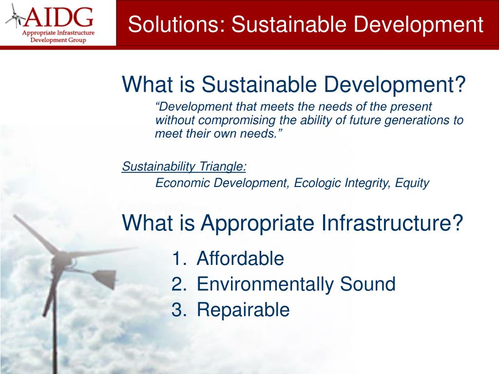 Solutions: Sustainable Development