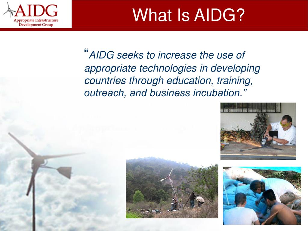 What Is AIDG?