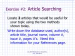 exercise 2 article searching