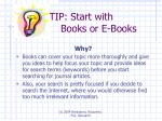 tip start with books or e books