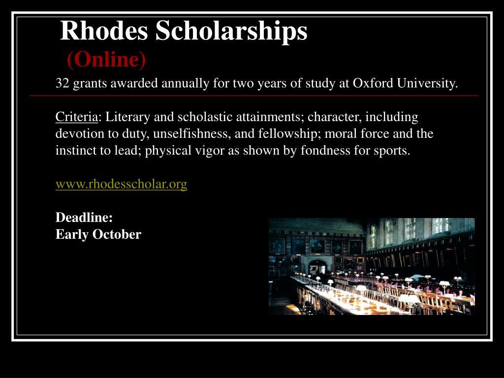 Rhodes Scholarships
