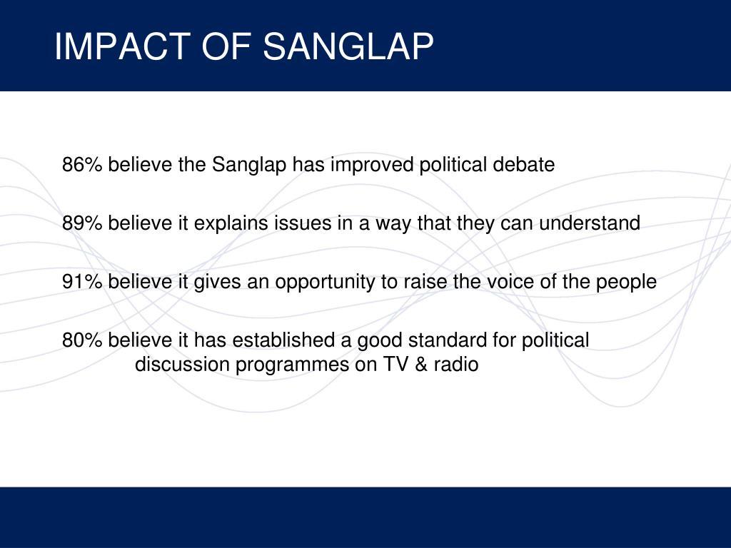 IMPACT OF SANGLAP