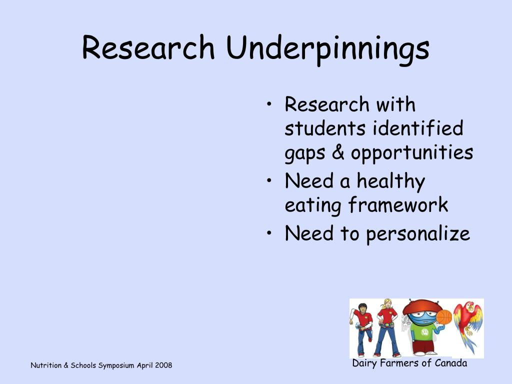 Research Underpinnings