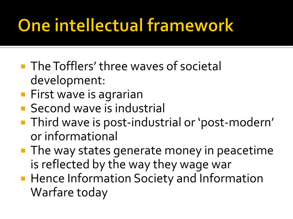 One intellectual framework