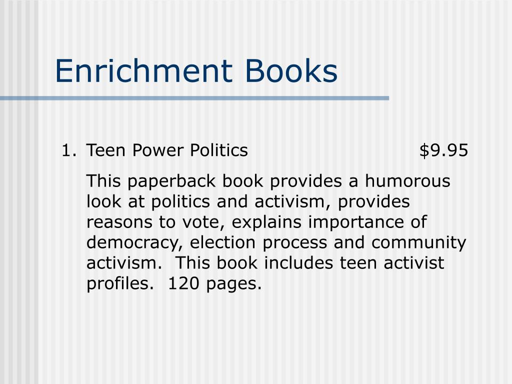 Enrichment Books