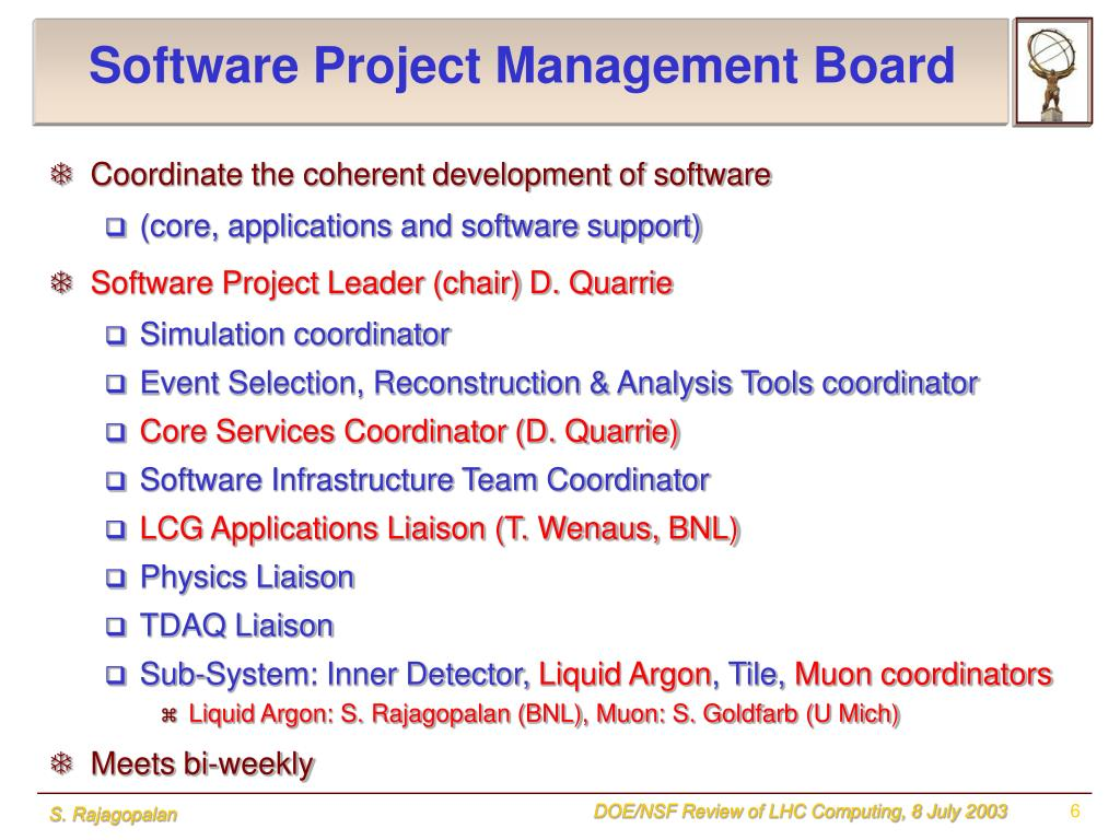 Software Project Management Board