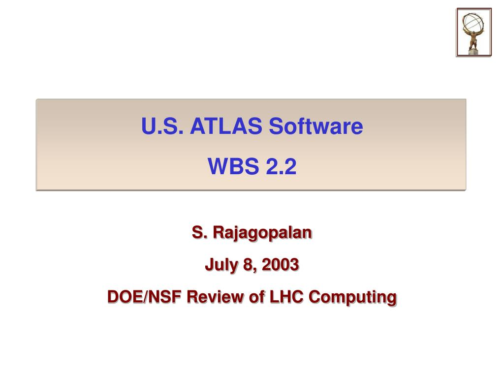 u s atlas software wbs 2 2