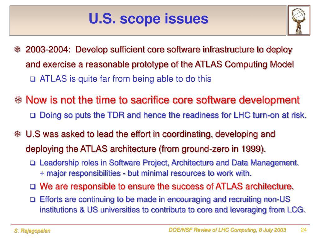 U.S. scope issues