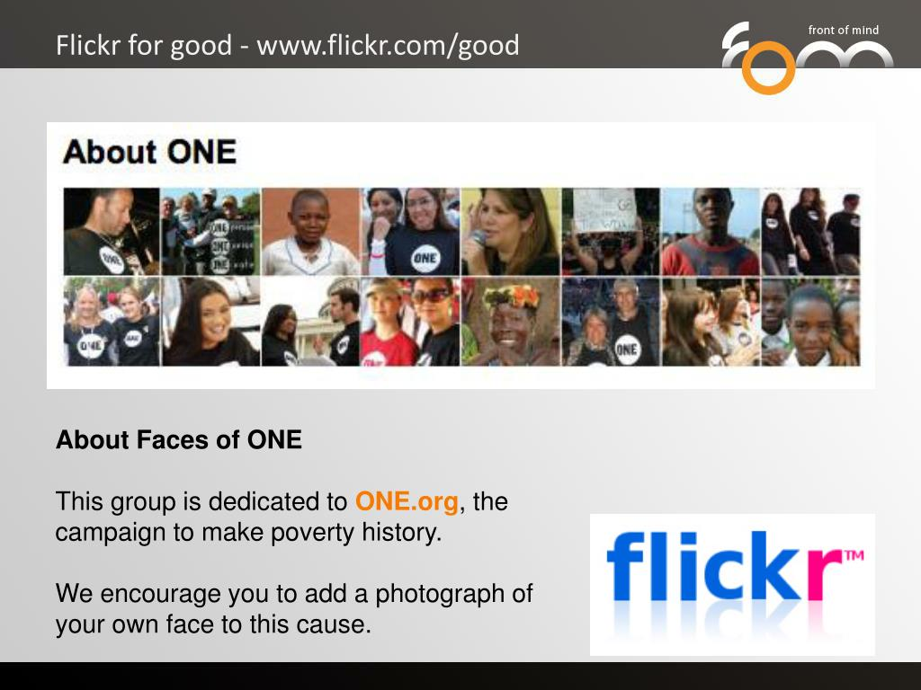 Flickr for good - www.flickr.com/good