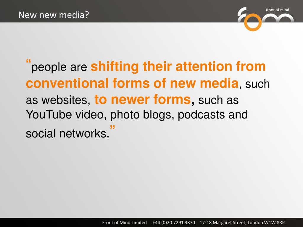 New new media?