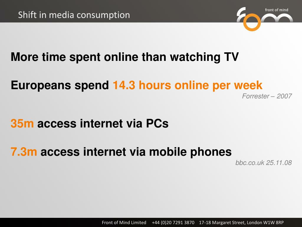 Shift in media consumption