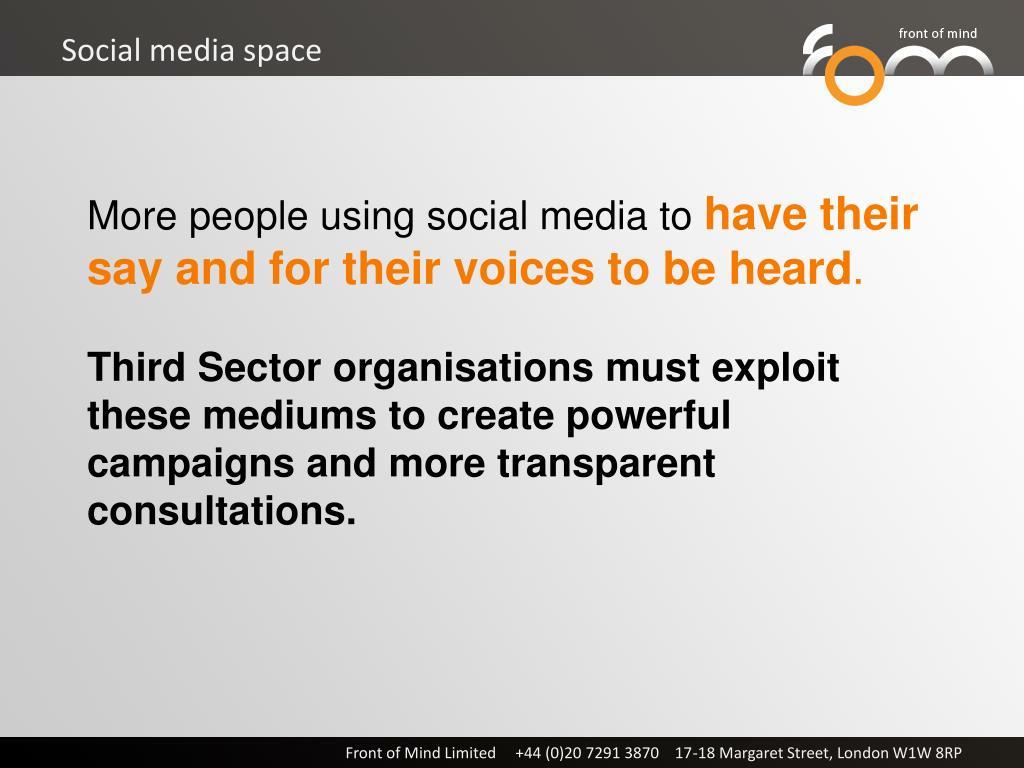 Social media space