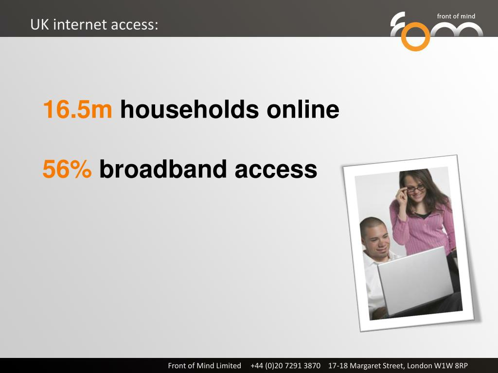 UK internet access: