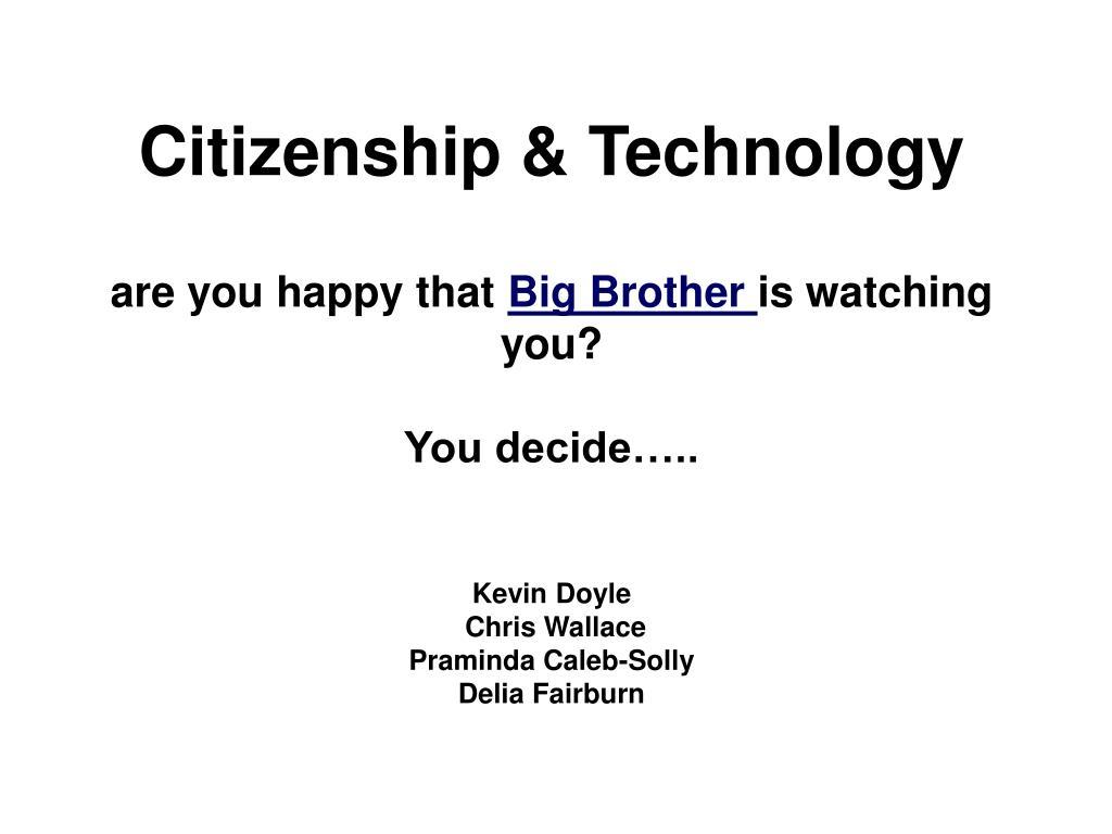 Citizenship & Technology