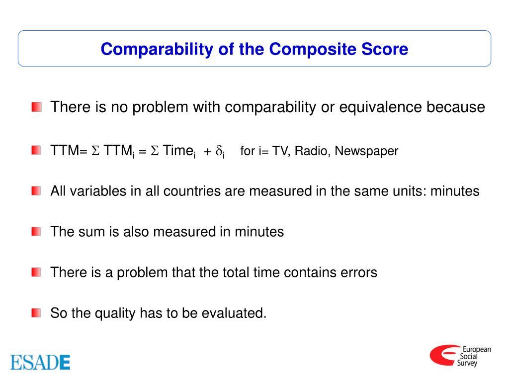Comparability of the Composite Score