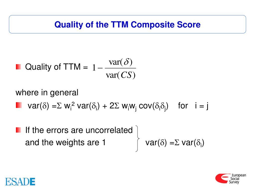 Quality of the TTM Composite Score