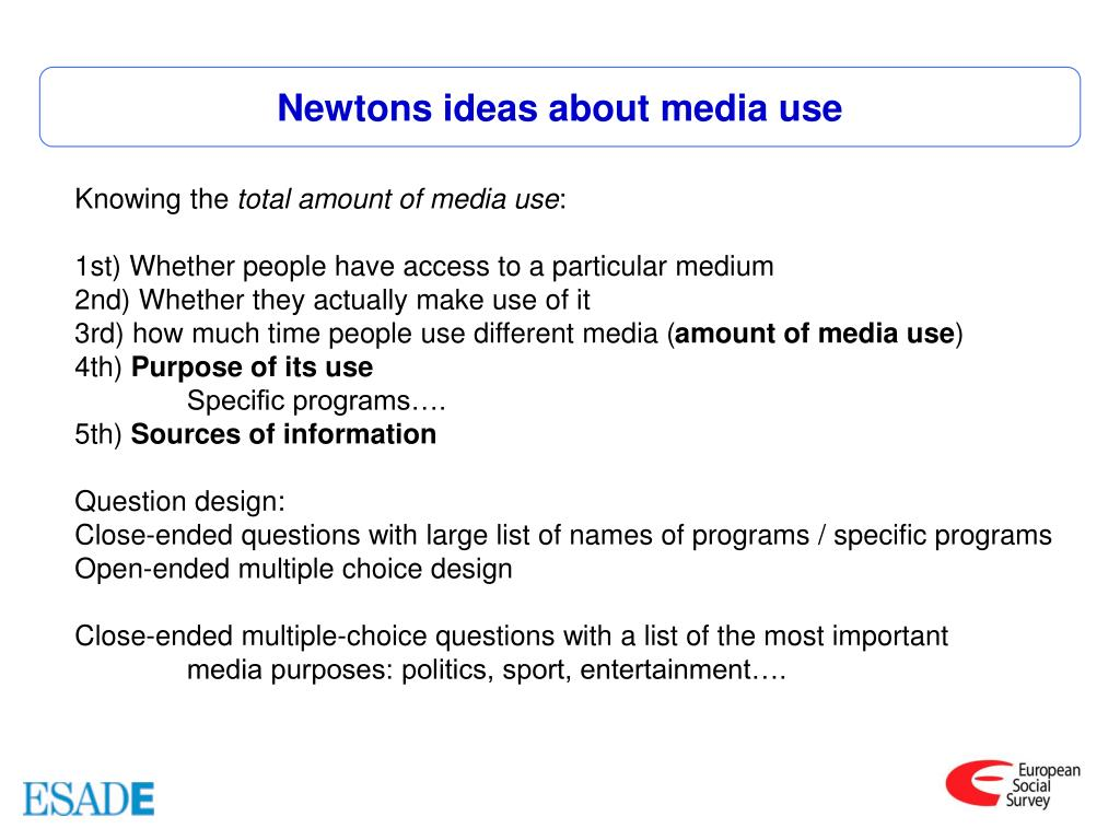 Newtons ideas about media use