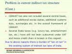 problem in current indirect tax structure cont