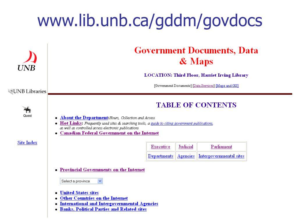 www.lib.unb.ca/gddm/govdocs