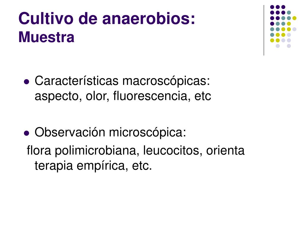 Cultivo de anaerobios: