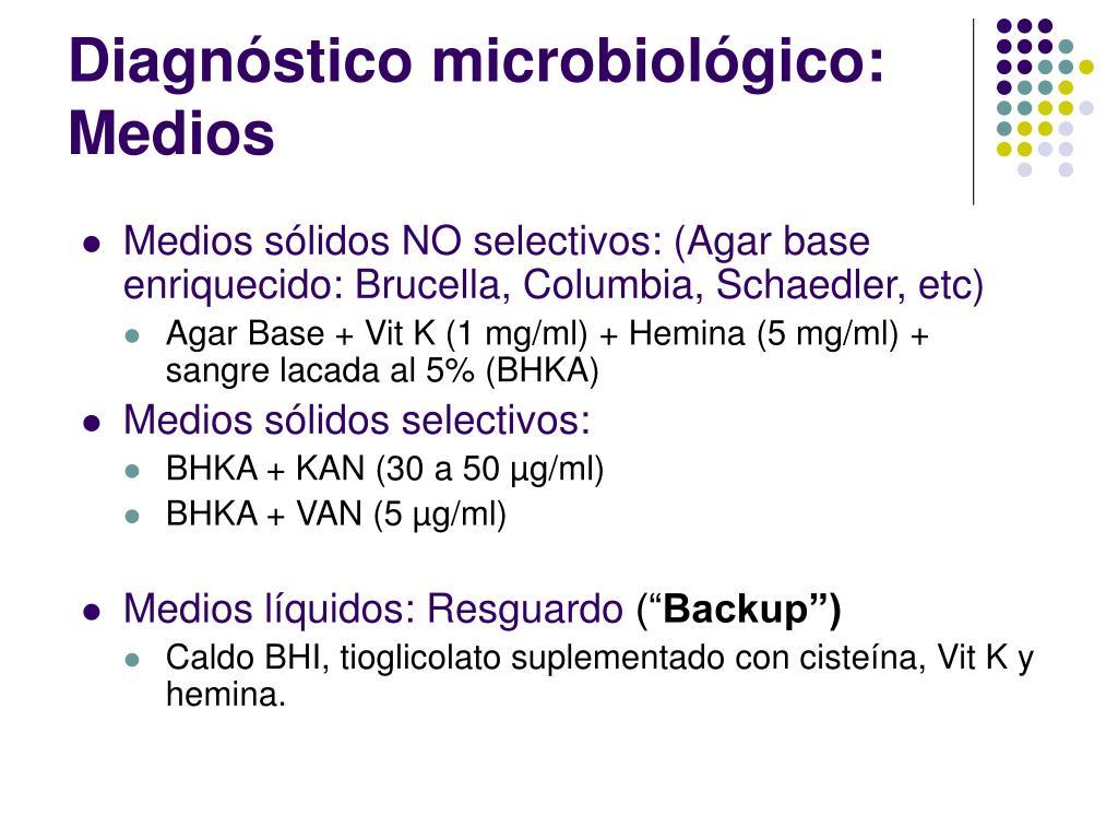 Diagnóstico microbiológico: