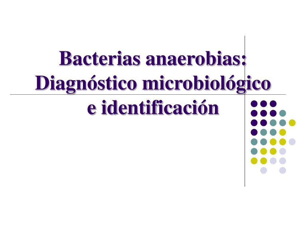 Bacterias anaerobias: Diagnóstico microbiológico