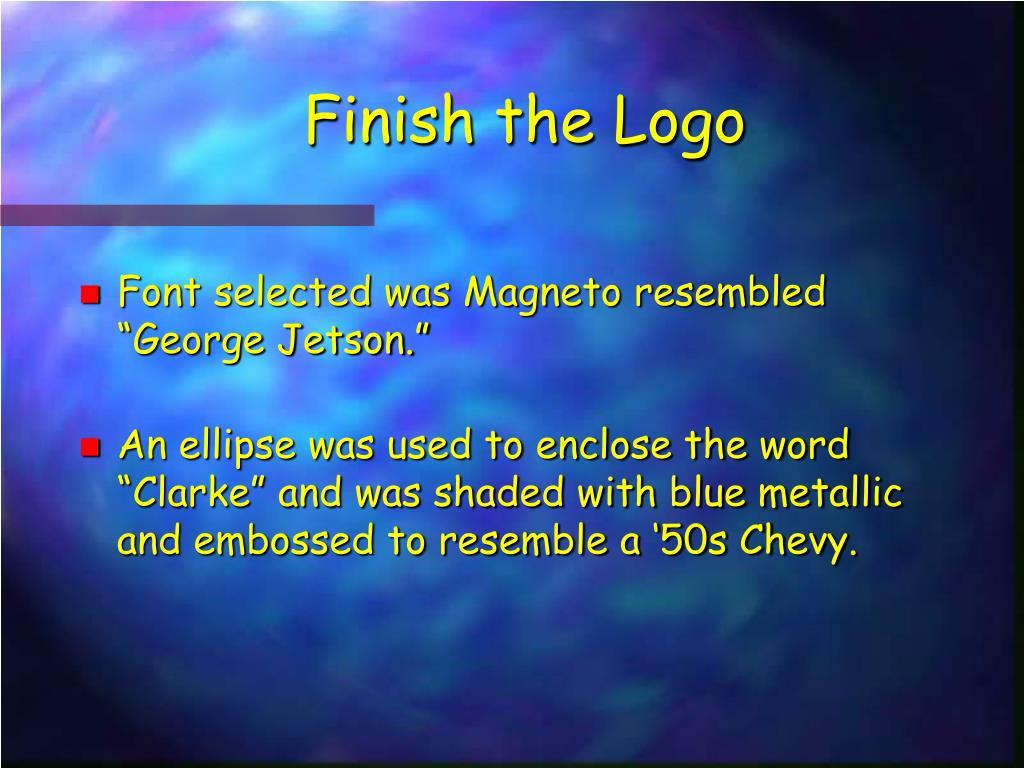 Finish the Logo