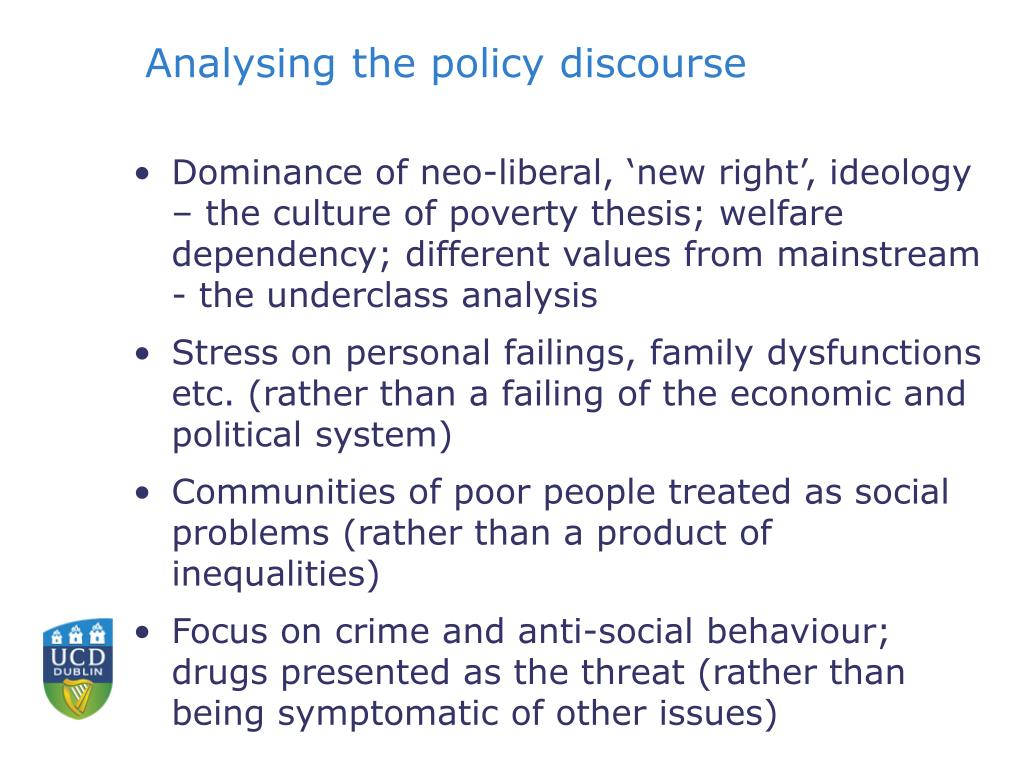 Analysing the policy discourse