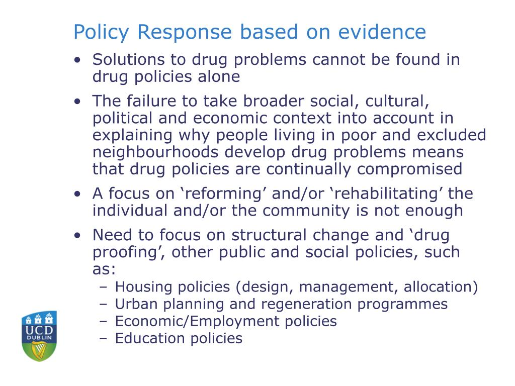 Policy Response based on evidence