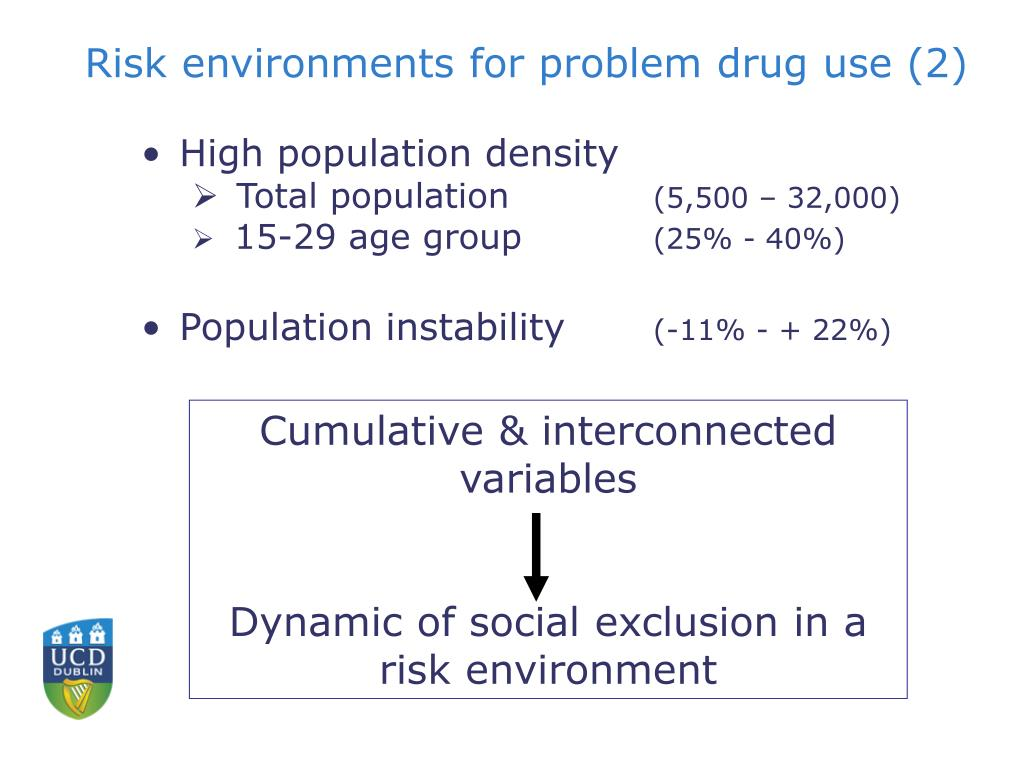 Risk environments for problem drug use (2)