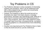 toy problems in cs