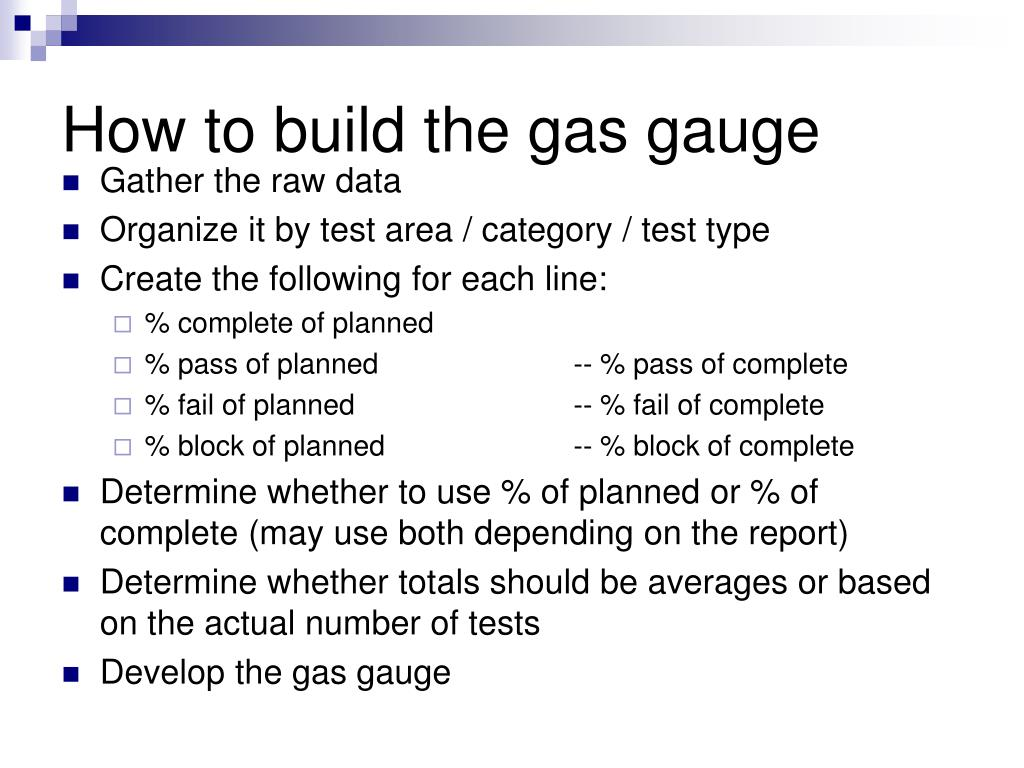 How to build the gas gauge