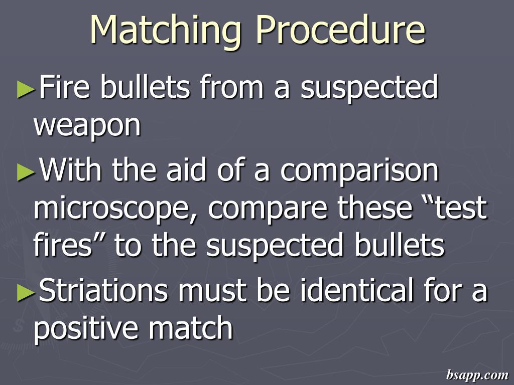 Matching Procedure