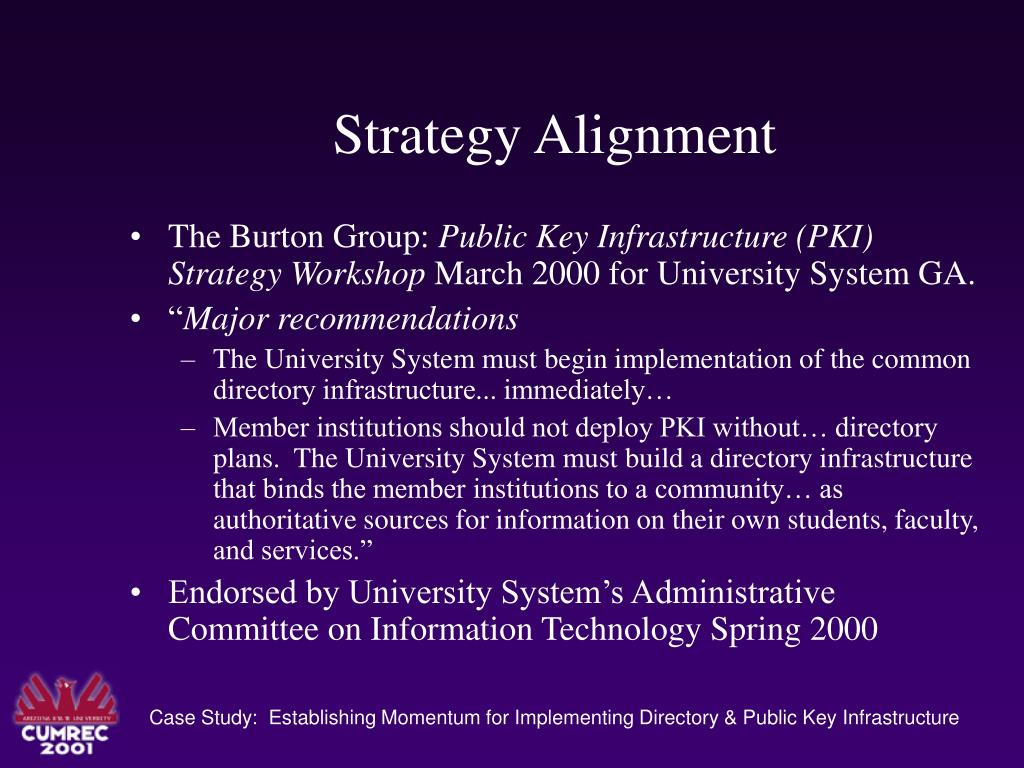 Strategy Alignment