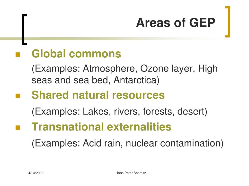 Areas of GEP