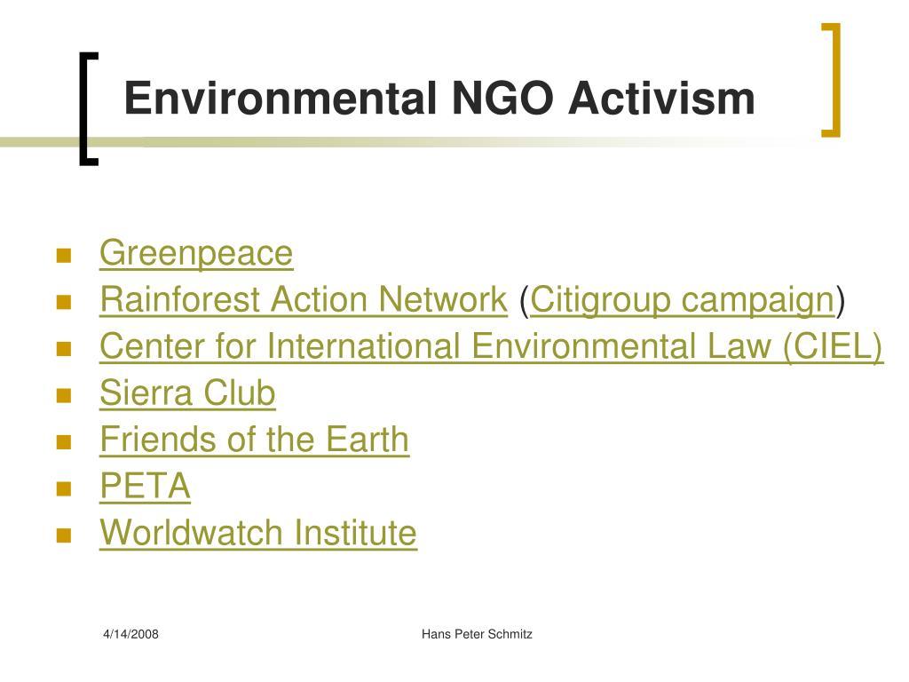 Environmental NGO Activism