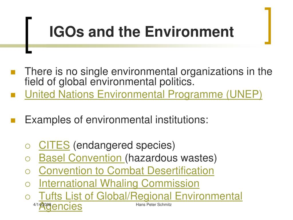 IGOs and the Environment