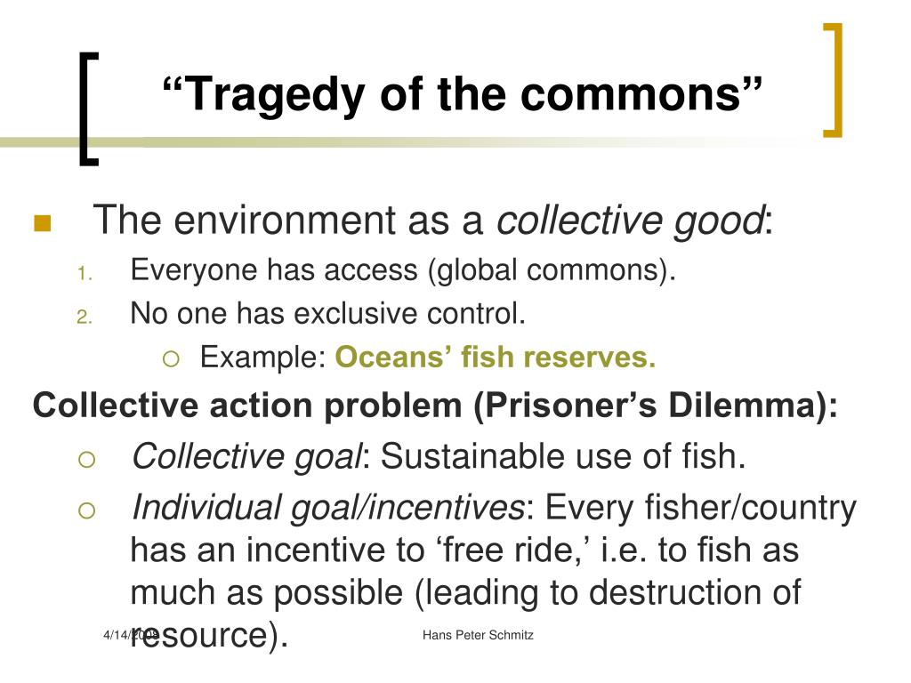 """""""Tragedy of the commons"""""""