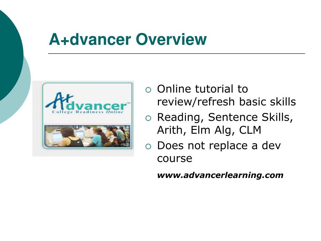 A+dvancer Overview