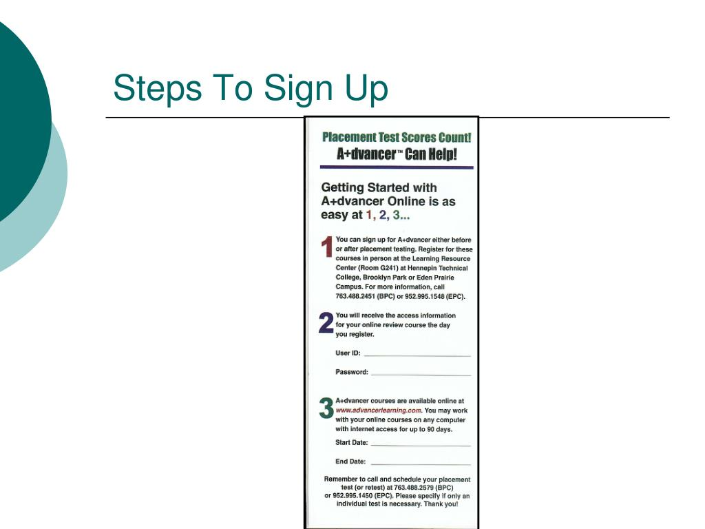 Steps To Sign Up