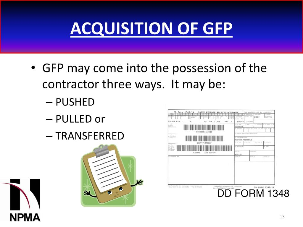 ACQUISITION OF GFP