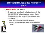 contractor acquired property cap24