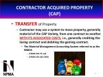 contractor acquired property cap25