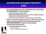 contractor acquired property cap27