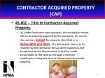 contractor acquired property cap31