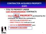 contractor acquired property cap34
