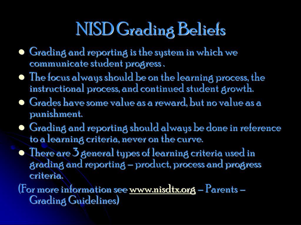NISD Grading Beliefs
