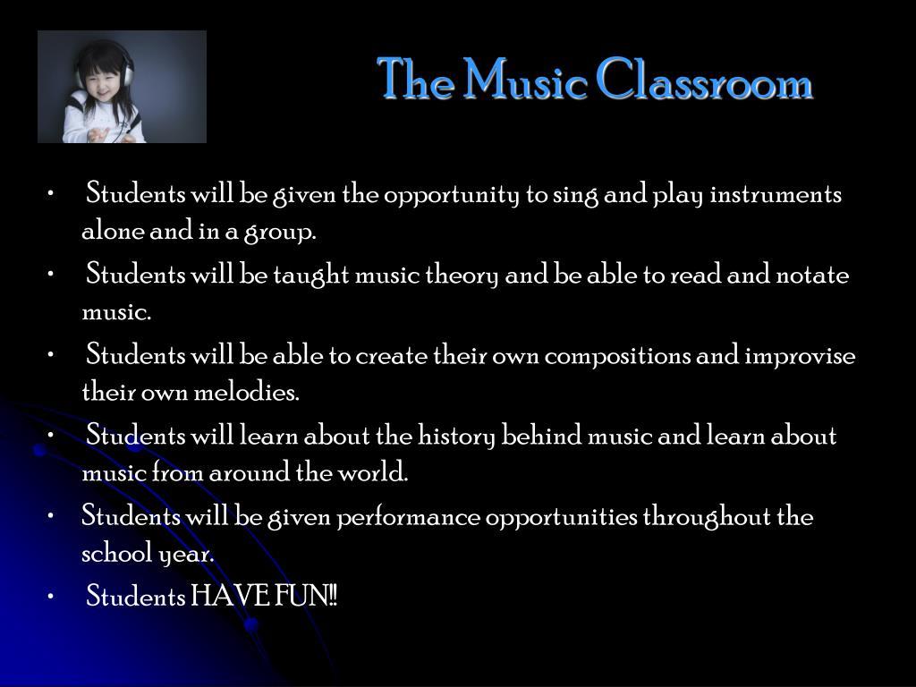 The Music Classroom